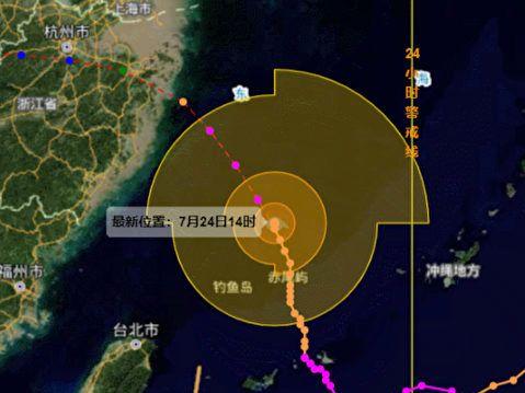 超強颱風路徑詭異 避開台灣直撲上海浙江