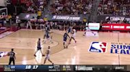 Marcos Louzada Silva with a 2-pointer vs the Golden State Warriors