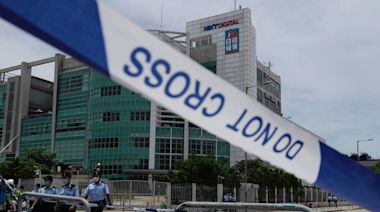 逾百港警封鎖搜查蘋果日報大樓 壹傳媒股票暫停交易
