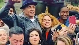 Sylvester Stallone surprises high school students at his famous 'Rocky' statue in Philadelphia