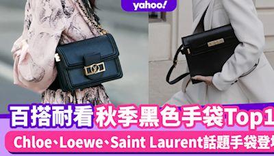 2021秋冬黑色手袋推薦Top13!Chloe Woody Tote新色登場、Loewe Gate粗肩帶更顯年輕時尚