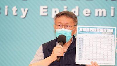 北市5週確診數少於5個 柯文哲報喜:兩週無不明感染源
