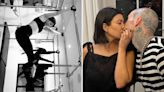 Kourtney does pilates in tiny crop top after getting engaged to Travis