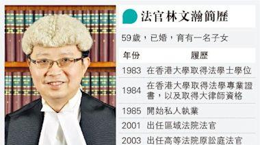 林文瀚獲薦任終院常任法官 法律界稱合適 「縱不同意看法亦感判辭在理」 - 20210513 - 港聞