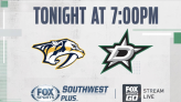 Dallas Stars vs Nashville Predators - Tonight on FOX Sports Southwest Plus