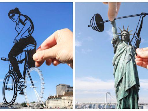 自由女神練舉重!剪紙藝術「融合知名地標」迸出新滋味 倫敦大樓「神還原后翼棄兵場景」太強❤️