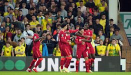 Takumi Minamino scores twice as Liverpool clip Canaries' wings in Carabao Cup