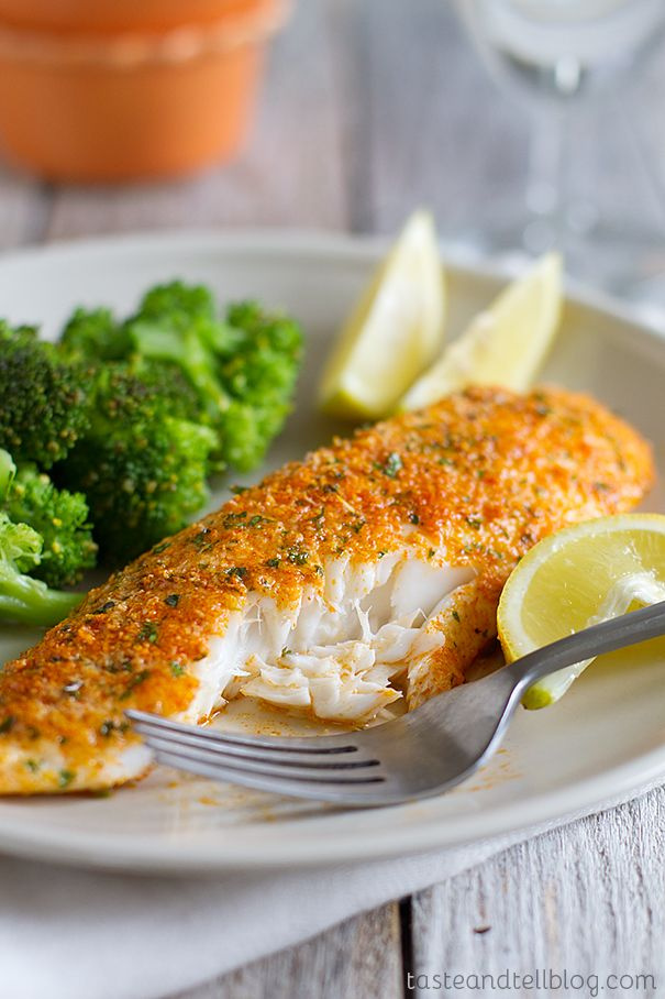Parmesan Crusted Tilapia ...easy way to change up the fish! @Ashley ...