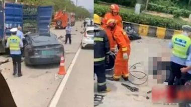 Tesla跪低建中國專屬數據庫 撞貨車死亡司機疑為韶關公安局前副局長 | 蘋果日報