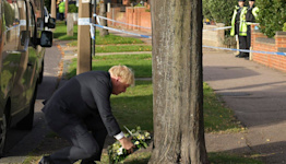 UK Prime Minister Visits Scene Where MP Stabbed to Death