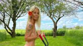 Ulrika Jonsson strips completely naked to raise awareness of men's mental health