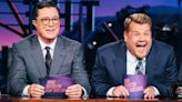 Stephen Colbert and James Corden Return to Studio for Late Night Tapings