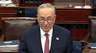 """Full speech: Schumer says Trump's acquittal """"will live as a vote of infamy"""""""