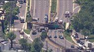 DC Pedestrian Bridge Collapses Along I-295 SB