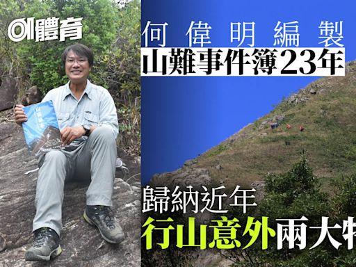 行山意外|山藝教練記錄香港山難23年 公開資料庫盼山友以古為鑑