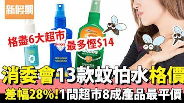 消委會蚊怕水|13款蚊怕水格價 澳樂家 Aerogard差幅達28% | 生活 | 新假期