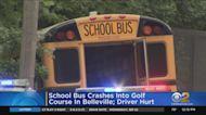 School Bus Crashes Into Belleville Golf Course