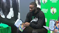 Jaylen Brown Inspires Students To Read, Remember Black History Month