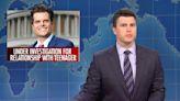 SNL's Colin Jost Brutally Mocks His Look-Alike Matt Gaetz
