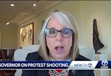 Gov. Lujan Grisham reacts to protest shooting