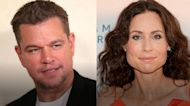 Minnie Driver ran into ex Matt Damon on the beach, had a 'middle-aged' conversation 'about the weather'