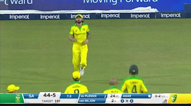 Australia's Agar stuns crowd with hat-trick