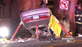 2 dead, 1 injured in car crash in Burlingame, police say