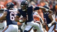 Browns sack Justin Fields 9 times in his first start for the Bears