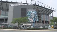Foles Banner Replaces Wentz Outside Lincoln Financial Field