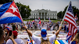Cuban-Americans rally outside White House: Protester says Biden admin's silence 'speaks volumes'