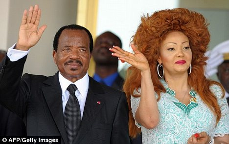 On holiday: Cameroon President Paul Biya and his wife Chantal ...