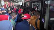 Social distancing on Mexico City metro falls apart after fire halts trains