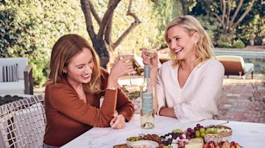 Cameron Diaz Takes AD Into Her Kitchen, Wine in Hand