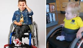 Mom Shares The Moment Her Toddler Feels Represented In A Target Ad With A Boy In A Wheelchair