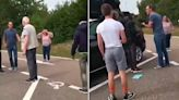 Brit confronts two teenage migrants climbing out of his ROOF BOX