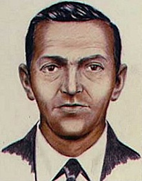 composite drawing of D. B. Cooper made by the FBI in 1972