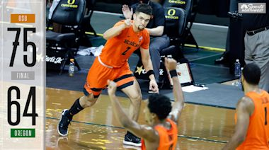 Oregon State MBB snaps Oregon's historic win-streak at home with huge win in rivalry game