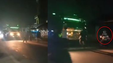 街上玩試膽遊戲!13歲男迎戰大卡車跌倒 鏡頭前慘被輾斃