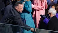 Garth Brooks shakes hands after performing 'Amazing Grace' at inauguration
