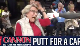 Watch 86-Year-Old Grandmother Sink Epic Putt to Win a New Car
