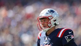 Mac Jones throws first career interception for Patriots