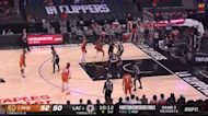 Mikal Bridges with an and one vs the LA Clippers