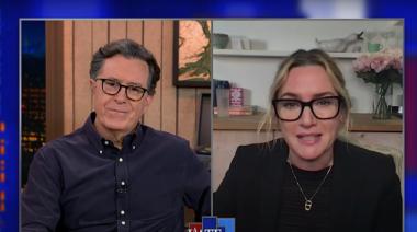 Avatar goddess Kate Winslet tells Stephen Colbert about going back underwater for James Cameron