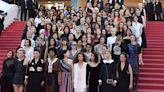 Actresses march for equality at Cannes