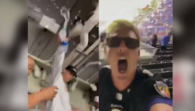 Chiefs' Patrick Mahomes responds after video shows brother pouring water on Ravens fan