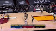 Tyler Herro with an and one vs the Indiana Pacers