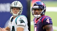 Sam Darnold's play and salary cap number make trading for Deshaun Watson tricky for Panthers   You Pod to Win the Game