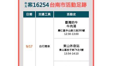 快新聞/歐返台20歲女確診曾遊台南! 到過「臺灣的牛牛肉湯」、東山休息站