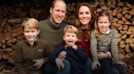The royal family smiles big in Christmas card photos