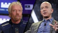 Richard Branson hopes to beat Jeff Bezos into outer space